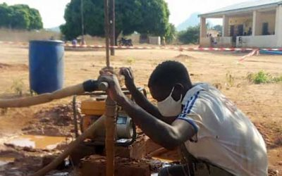 """Thanks: funds for """"Water for health centres Eastern Zambia"""" has been raised and work is progressing."""